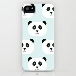 Panda Love- Mint Blue iPhone Case