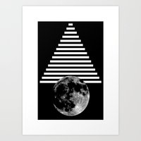 walk the moon Art Prints featuring moon walk by some guy named christian