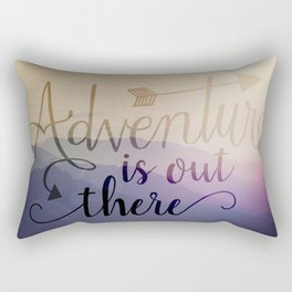 Adventure is out there! View over hills Rectangular Pillow