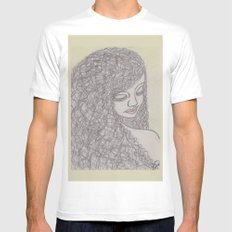 Lovely Girl MEDIUM Mens Fitted Tee White