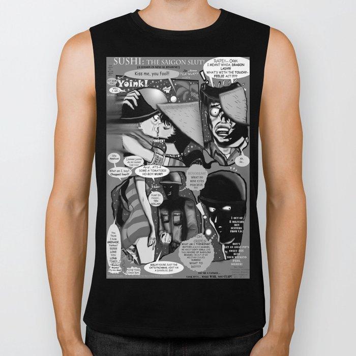 Bird of Steel Comix – #8 of 8  - (Society 6 POP-ART COLLECTION SERIES) Biker Tank