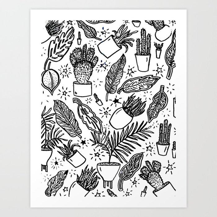 Magic Plants Art Print
