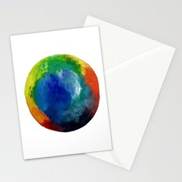 Rainbow Circle Stationery Cards