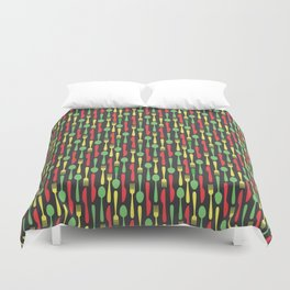 Colored Kithen Cutlery Duvet Cover
