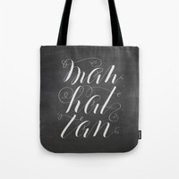 manhattan Tote Bags featuring Manhattan by Molly Suber Thorpe