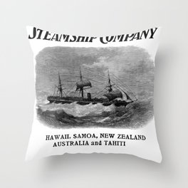 Oceanic Steamship Company Throw Pillow