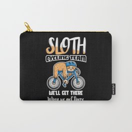 Bicycle Bike Sloths Cycling Racing Bike Sloth Carry-All Pouch