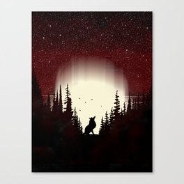 Red Forest Fox Canvas Print
