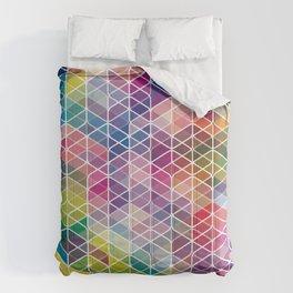 Cuben Curved #6 Geometric Art Print. Comforters