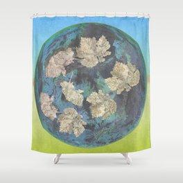 The world turns Shower Curtain