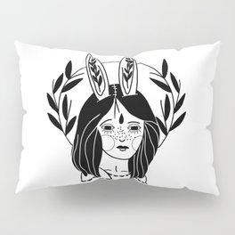 Rabbit Girl Pillow Sham