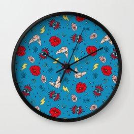 Ramona Good Luck Blue Wall Clock