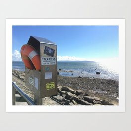 Refugees Welcome in Galway Art Print