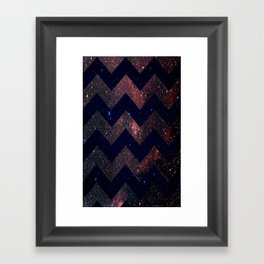 Chevron Sky Framed Art Print