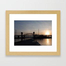 Burlington Bridge Framed Art Print