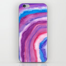 AGATE Inspired Watercolor Abstract 09 iPhone Skin