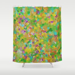 Abstract 14 Shower Curtain