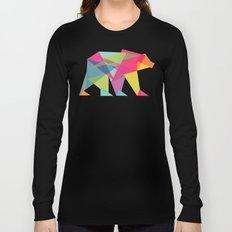 Fractal Bear - neon colorways Long Sleeve T-shirt