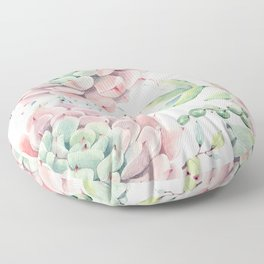 Pink Succulents by Nature Magick Floor Pillow