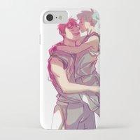 kuroko iPhone & iPod Cases featuring kagakuro kiss by jensuisdraws