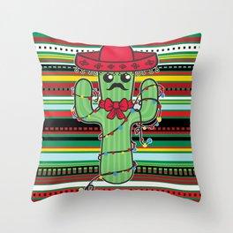 Christmas Nopal Throw Pillow