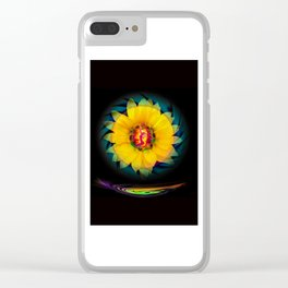 Sunflower Love Clear iPhone Case