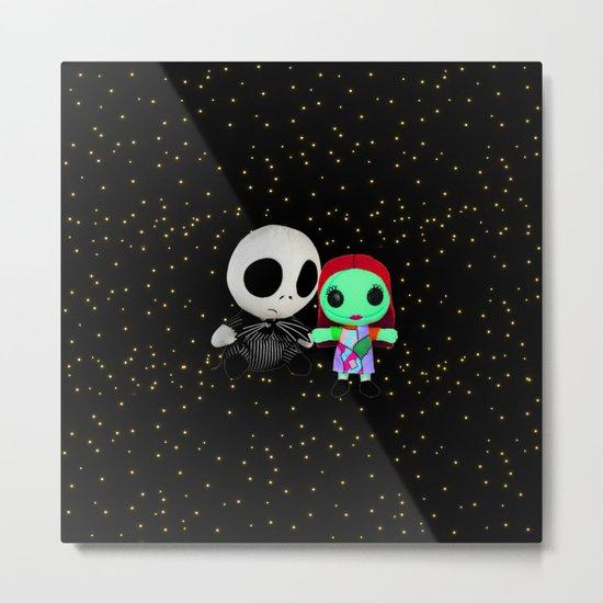 Halloween Babies | Jack | Sally | Christmas | Nightmare Metal Print