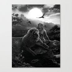 VIII. Strength Tarot Card Illustration Canvas Print