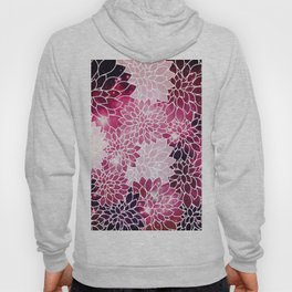 Space Dahlias Magenta Hoody