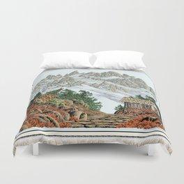 BEYOND MOUNT SHUKSAN AUTUMN COLOR VERSION Duvet Cover