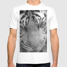 Le Tigre Pendant Sa Sieste MEDIUM Mens Fitted Tee White
