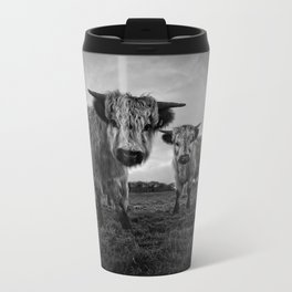 Two Shaggy Cows Travel Mug
