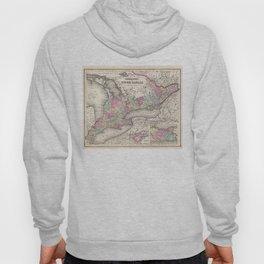 Vintage Map of Ontario (1857) Hoody