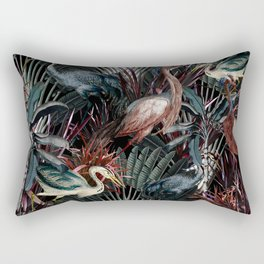 Floral and Birds XXXVIII Rectangular Pillow