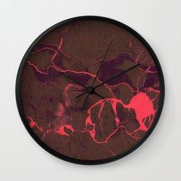 Grey Marble and Coral Wall Clock