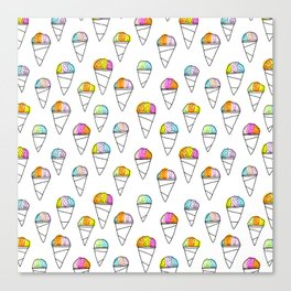 Sno-Cone Summer! Canvas Print
