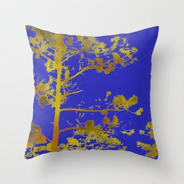 electric blue chinese whispers Throw Pillow