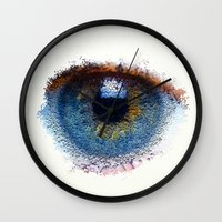 iris Wall Clocks featuring Iris by Paul Kimble