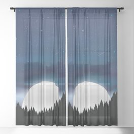 Moonlit Forest Sheer Curtain