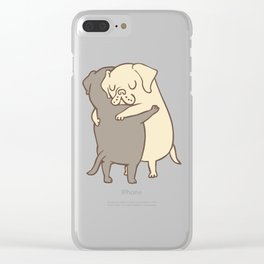 Labrador retriever Hugs Clear iPhone Case