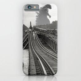 Washington D.C. Anacostia Bridge 1933 Godzilla Encounter iPhone Case