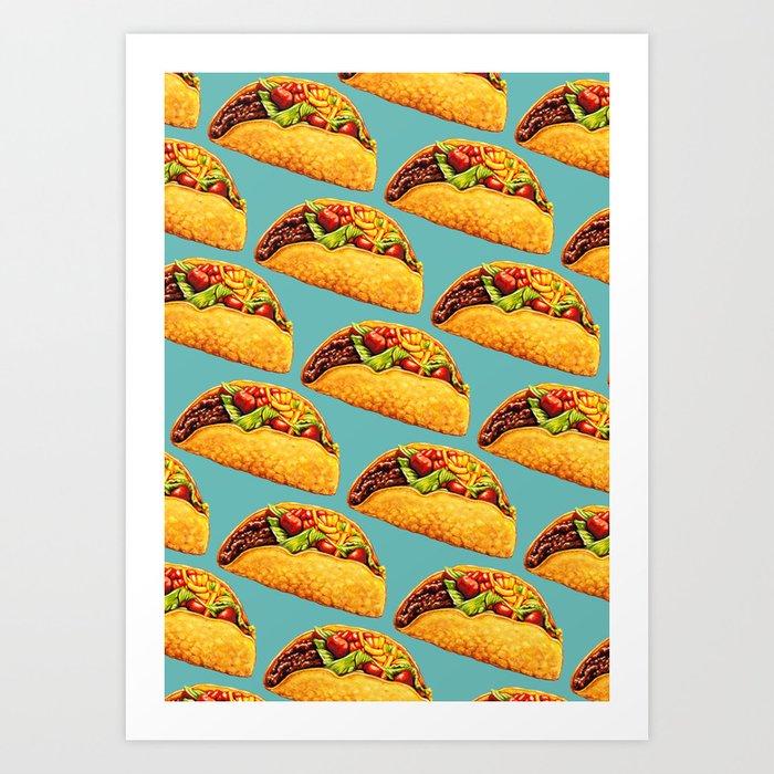 Taco Pattern Kunstdrucke