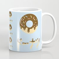 donut Mugs featuring DONUT. by Dani Does Art