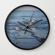 Across The Pier Wall Clock