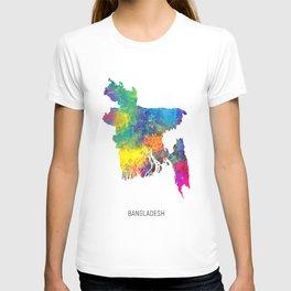 Bangladesh Watercolor Map T-shirt