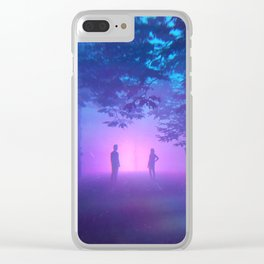 Forest Fog Love Clear iPhone Case