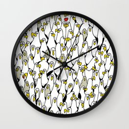 1000 Albatrosses Wall Clock
