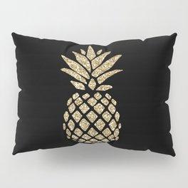 Gold Glitter Pineapple Pillow Sham