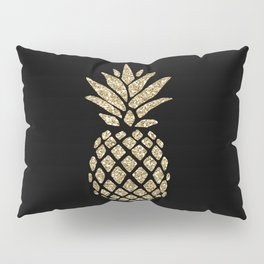 Gold Glitter Pineapple Pillow Sham