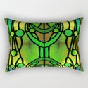 Green and Gold Stained Glass Victorian Design by patriciannek